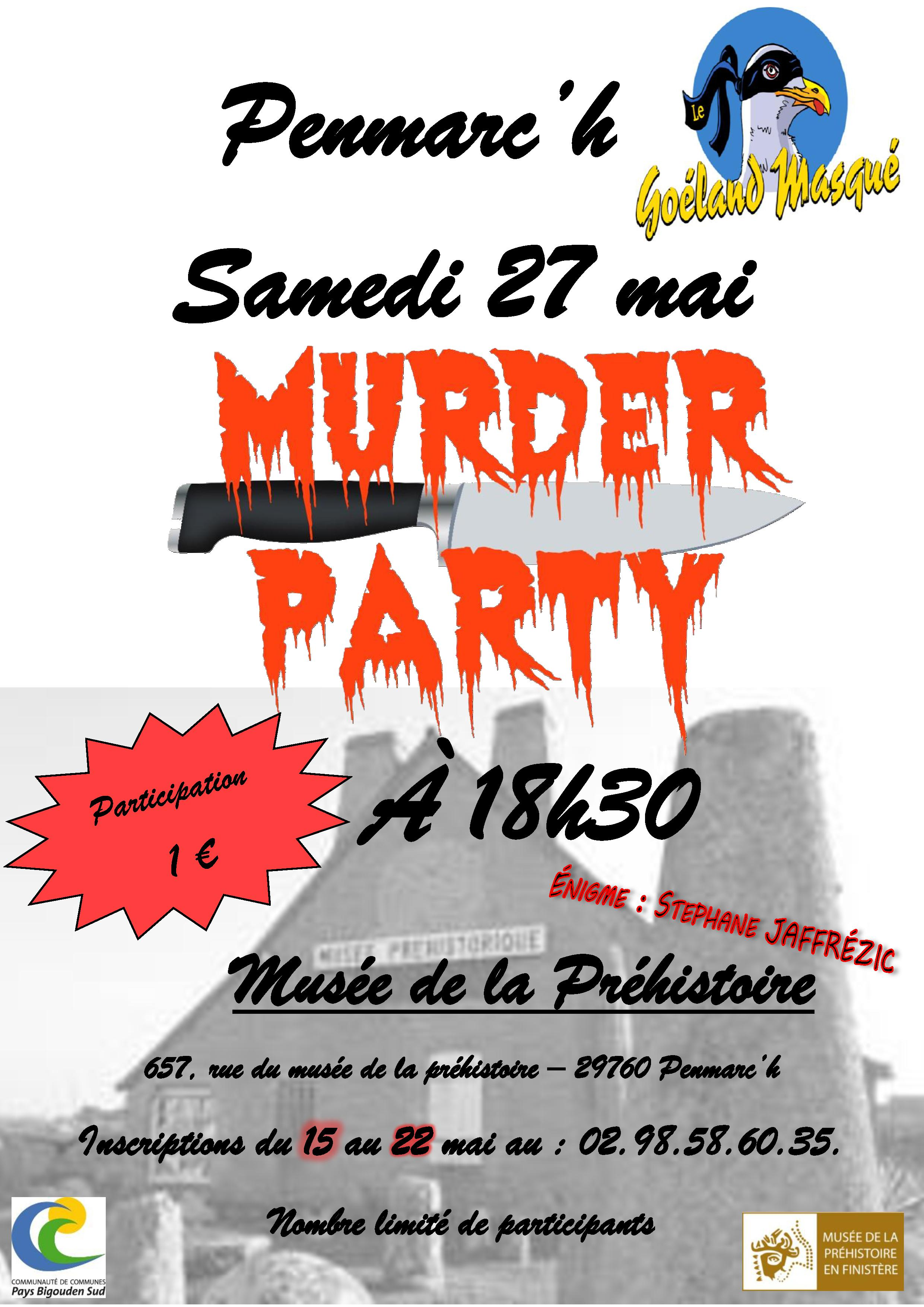 Murder Party à Penmarch le 28 mai 2017